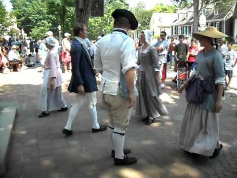 Dancing in the street at Colonial Williamsburg Va 6-8-11 scene 1
