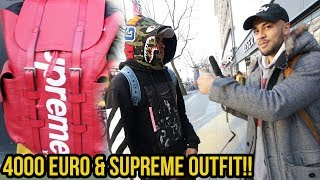Wie viel ist dein Outfit wert? Hypebeast mit 4000 Euro Supreme Outfit!