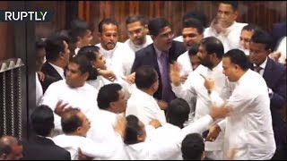 Fists fly at Sri Lankan parliament session in massive brawl over PM