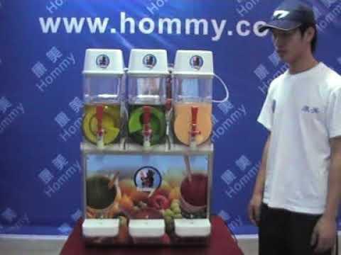 hommy slush machine HM123, three tanks slush machine