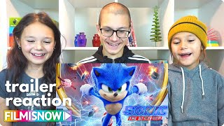 SONIC THE HEDGEHOG (2020) d-three KIDS React to New Look Trailer | Trailer Reaction