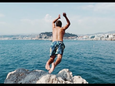 CLIFF DIVING IN NICE, FRANCE