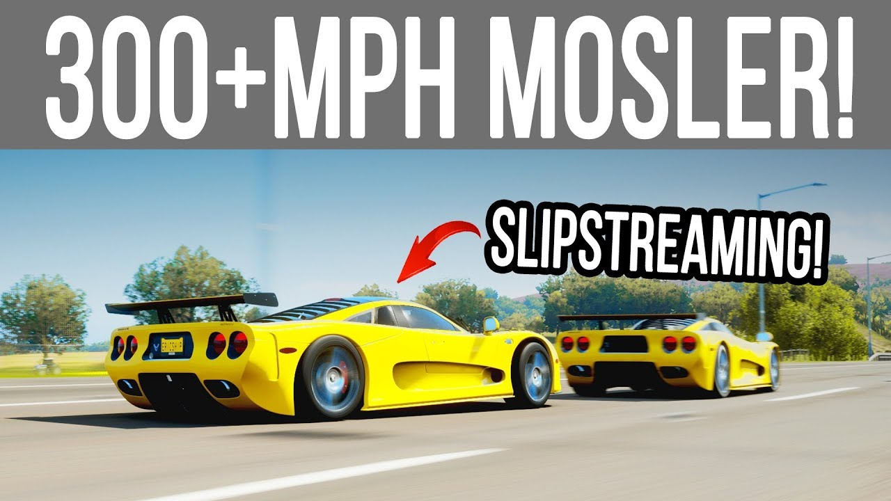 Forza Horizon 4 Can A Mosler Slipstream Over 300 Mph With Another Mosler Mt900s Youtube