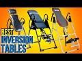 10 Best Inversion Tables 2016