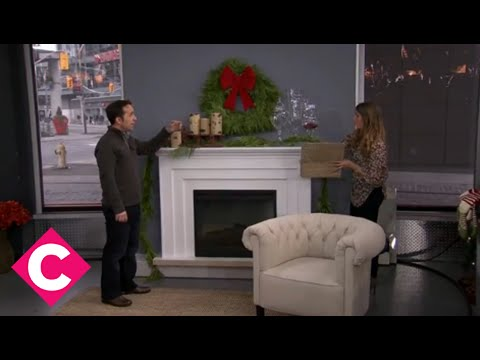 christmas decorations for your fireplace mantle youtube - How To Decorate A Fireplace For Christmas