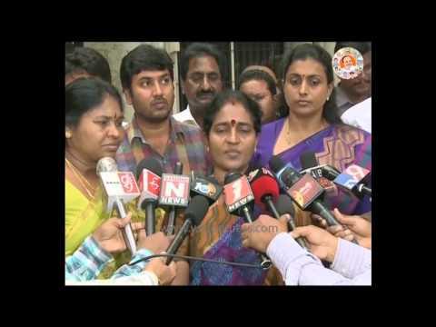 YSRCP Nagari Chair person Shantha Kumari speaks on TDP illegal activities -18th Aug 2015