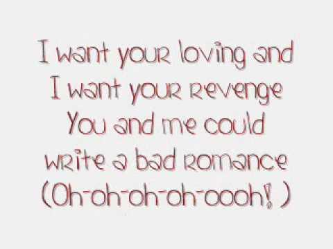 Lady Gaga- Bad Romance (Lyrics)