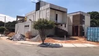 Fechamento de Paredes de Casa de Container