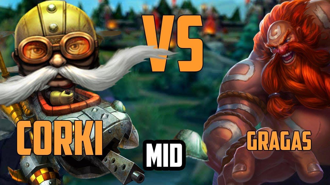 Gragas vs Corki    Playing Gragas the GLACIAL way