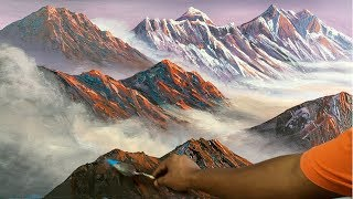 Mountain Painting | Mountain Painting Tutorial | How to Paint Mountain | Painting Lesson| Art Candy