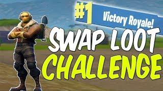 Swap Loot Every Kill Challenge WIN! (INSANE!) - Fortnite Battle Royale