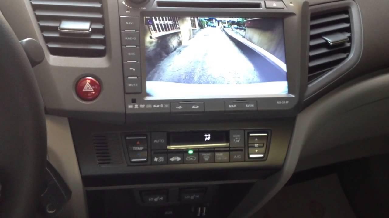 Honda Civic Navitech Navigasyon Ön ve Arka Kamera - YouTube