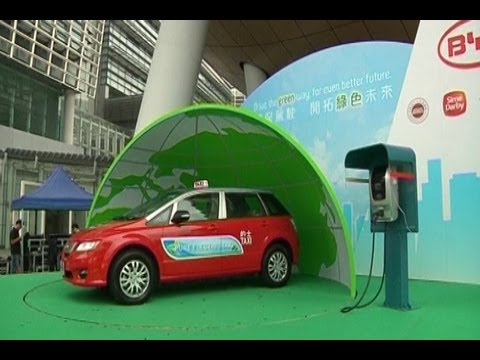 BYD Unveils Electric Taxi Fleet in Hong Kong