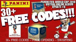 ⚽ HUGE 30+ FREE CODES !!   Panini FIFA WORLD CUP 2018 STICKER ALBUM  ⚽ VIRTUAL ONLINE!