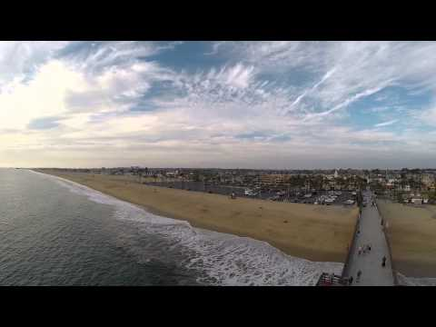Newport beach pier California drone