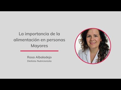 Entrevista a la Dra. Rosa Albaladejo: La importancia de la alimentación en personas mayores