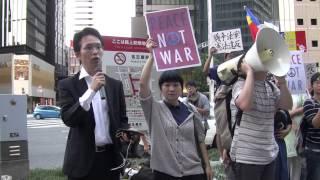 【東海YouthAct】2015.8.23戦争法案反対緊急街宣@名駅前