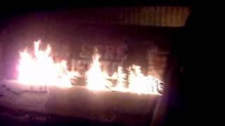 Rosario central prende fuego a newells