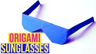 Paper Sunglasses - Easy Origami Craft- DIY -How to Make Origami Paper Sunglasses- Easy Paper Crafts.