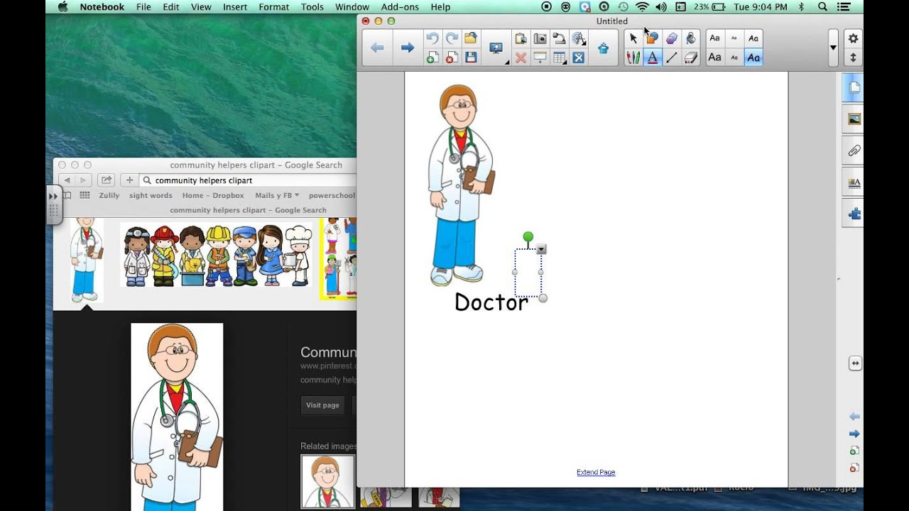 how to insert an image and text box using the smartboard notebook rh youtube com Chair Clip Art Mermaid Clip Art