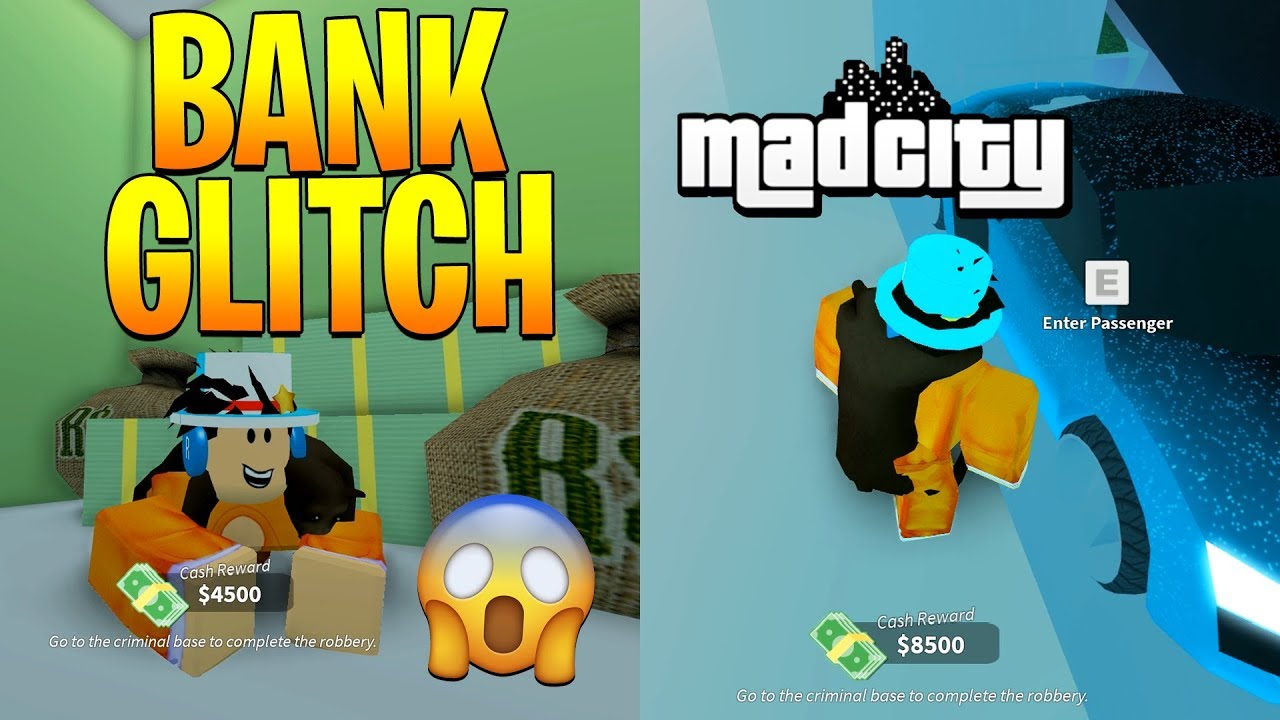 3 Best Glitches In Mad City Bank Glitch Roblox Youtube