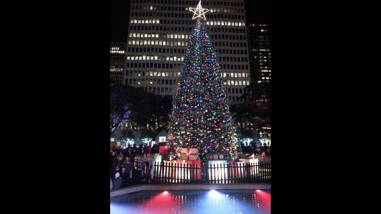 houston city hall christmas tree lighting plus fireworks 12042015 - Christmas In Houston 2015