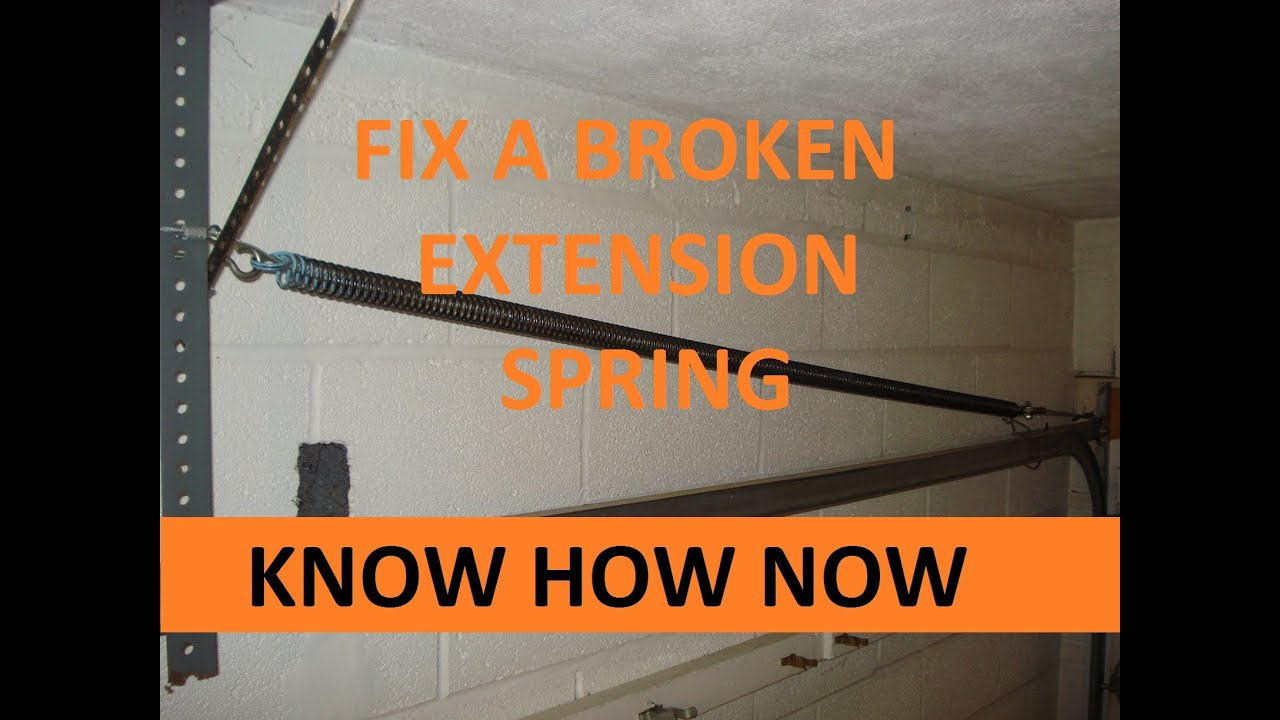 Replace a Garage Door Extension Spring  YouTube