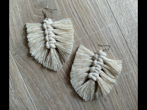 Macrame Feather Earrings | Beginner Tutorial | DIY
