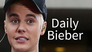 Justin Bieber Falls At Church - VIDEO