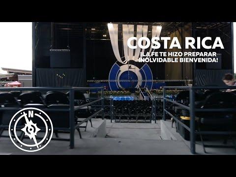 Costa Rica ¡La fe te hizo preparar inolvidable bienvenida!