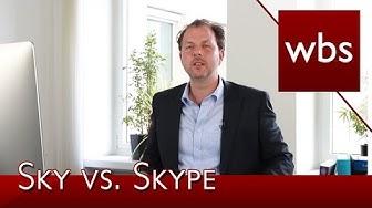 Sky siegt im Markenstreit gegen Skype vor dem EuG | Rechtsanwalt Christian Solmecke