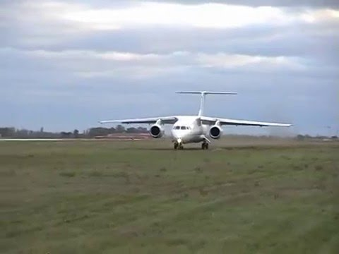 Antonov AN-148 test at the unpaved airfield
