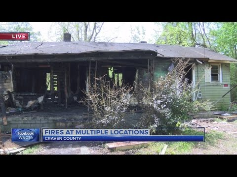 New Bern-area structure fires being investigated at intentionally set