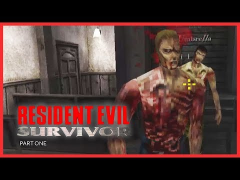 RESIDENT EVIL : SURVIVOR (PSX) - Part 1 / Easy Level | PLAYSTATION | PSX | RETRO GAMING