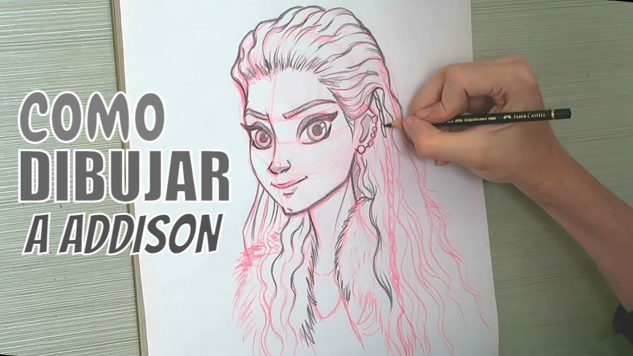 Como Dibujar A Addison De Zombies De Disney Youtube