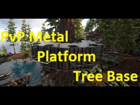 ARK Survival Evolved   PVP Metal Tree Platform Guide   100 Turret  Limitation   Defense Guide