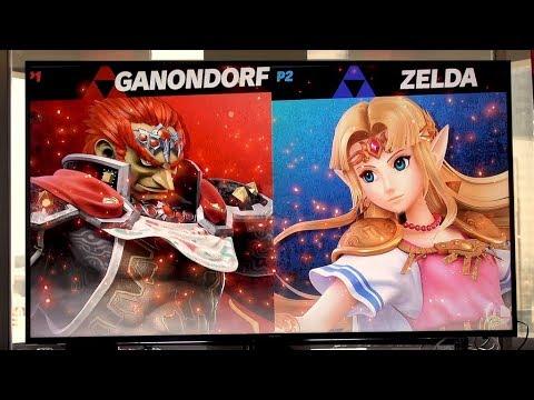 Super Smash Bros. Ultimate Gameplay - Great Plateau Tower, Ganondorf vs Zelda (Off-screen)