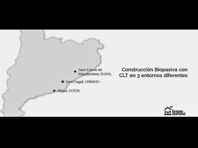 House Habitat casas biopasivas de madera CLT en Barcelona