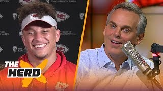 Patrick Mahomes on his 83-yard pass, learning from Alex Smith and Andy Reid | NFL | THE HERD thumbnail