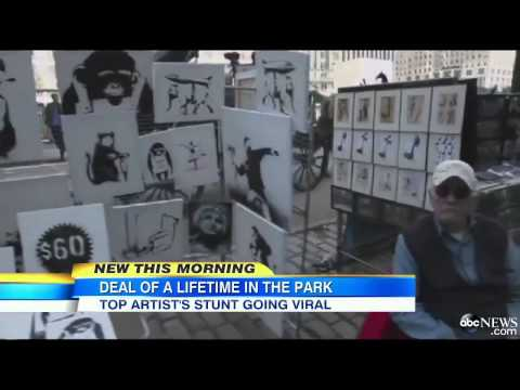 Banksy Sells Artwork for $60 on NYC Streets