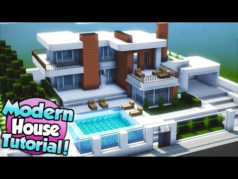 Minecraft: How to Build a Large Modern House Tutorial (#15)
