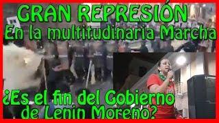 !Última Hora! Gran REPRESIÓN en la multitudinaria marcha convocada por Rafael Correa