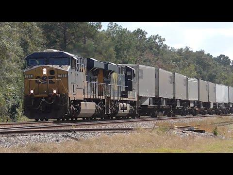 [1S] 13 Trains at the CSX Gateway Between Georgia and Florida, Folkston GA, 10/20/2015 ©mbmars01