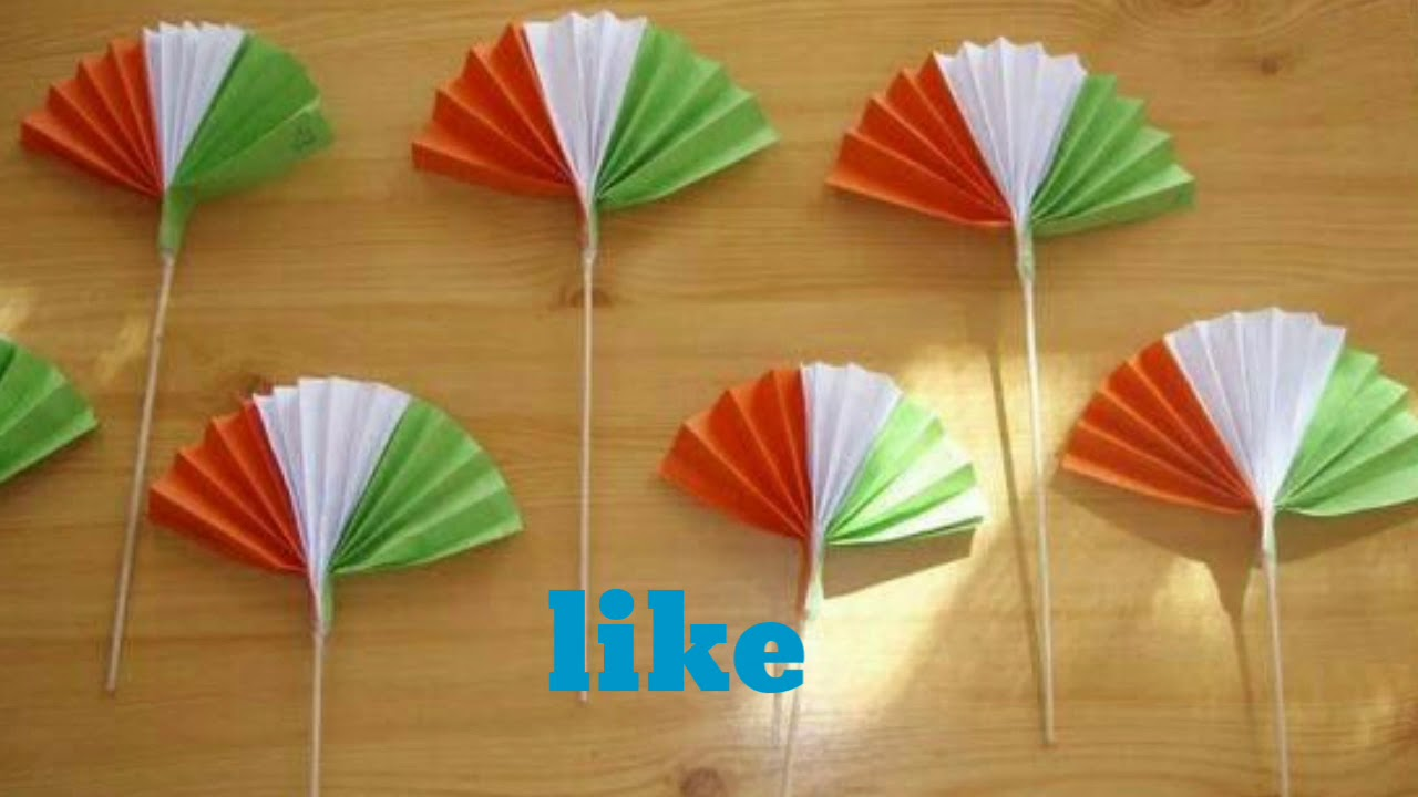 Republic Day Crafts For Kids Crazy Craft Youtube
