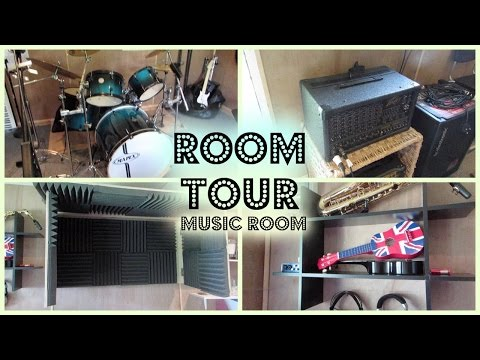 Room Tour! I Tour of my Music Room!