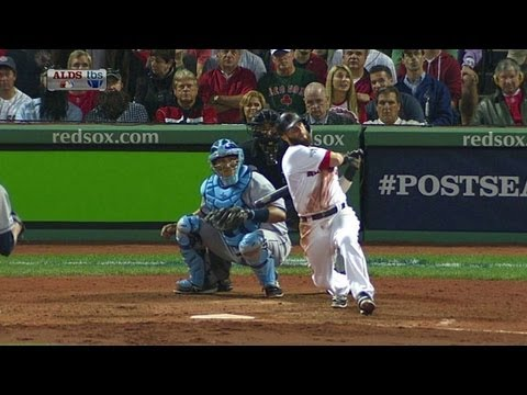 TB@BOS Gm2: Pedroia scores Ellsbury with a double