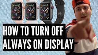 How To Turn OFF The Always On Display On The Apple Watch Series 5!!! 😎
