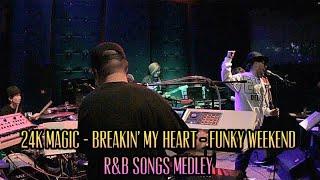 24K magic - Breakin' my heart - Funky Weekend / Bruno Mars & Mint Condition & Stylistics (Cover)