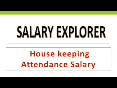 House Keeping Attendance Salary in UAE/Dubai