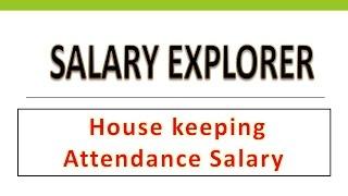 House Keeping Attendance Salary in UAE/Dubai